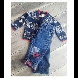 Osh kosh sweater and pants set